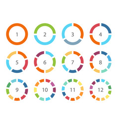 Color infographics elements parts of circle vector