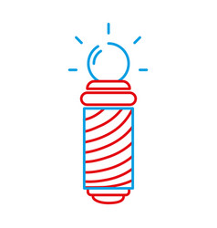 color line baber shop symbol to haircut service vector image