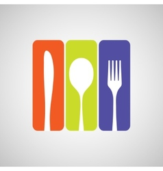 Cutlery color vector image