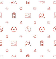 disk icons pattern seamless white background vector image
