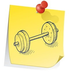 doodle sticky note weight exercise vector image