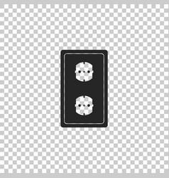 Electrical outlet power socket rosette symbol vector