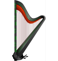Fantasy gothic harp vector