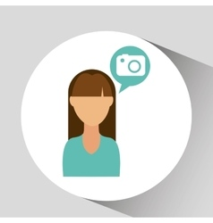 Girl with icon vector