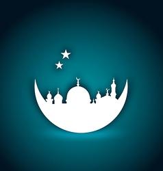 Greeting card for Ramadan Kareem vector image vector image