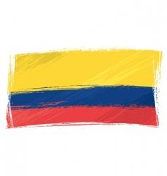 grunge ecuador flag vector image