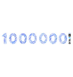 Hatch mosaic 1000000 digits text icon vector