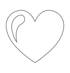 heart drawing isolated icon design vector image