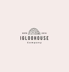Igloo house logo hipster retro vintage icon vector
