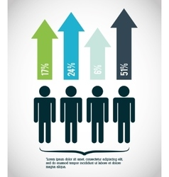 Infographic people design vector image