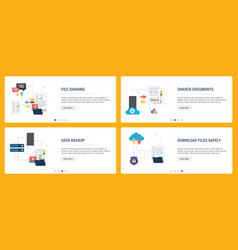 Internet banner set technology and computers vector