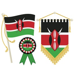 kenya flags vector image