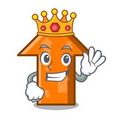 king arrow mascot cartoon style vector image