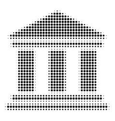library building halftone icon vector image