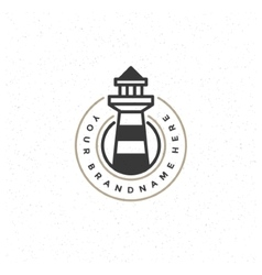 Lighthouse design element in vintage style for vector