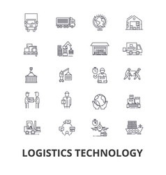 Logistics technology transport supply chain vector