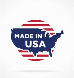 Made in america usa symbol logo label vector