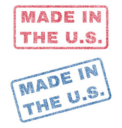 Made in the us textile stamps vector