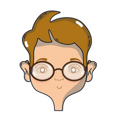 Man face with hairstyle design vector