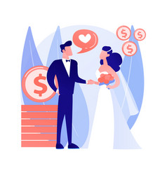 Marriage convenience abstract concept vector