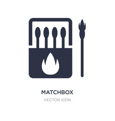 Matchbox icon on white background simple element vector