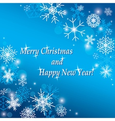 Merry christmas and happy new year - background vector