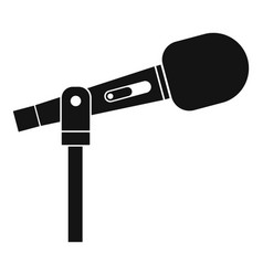 microphone icon simple style vector image