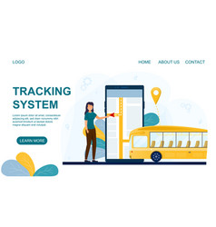 Mobile tracking system for public transport vector