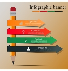 Modern Infographic banner vector image