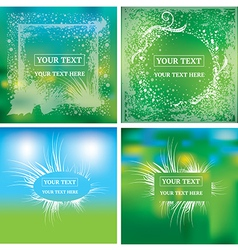 natural frames background vector image