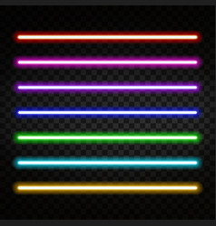 Neon light colorful tubes isolated vector