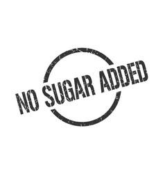 No sugar added stamp vector