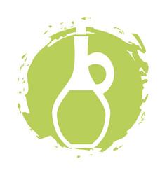 Oil jasr spa bottle vector