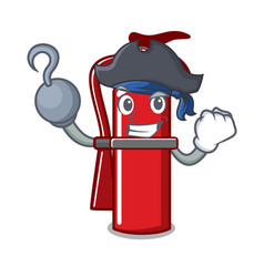 Pirate fire extinguisher character cartoon vector
