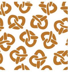 Pretzels seamless pattern white vector
