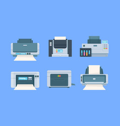 Printers documents and photo on papers copy vector