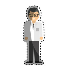 professional doctor specialist with glasses vector image