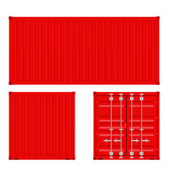 Red shipping container vector