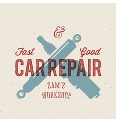 Retro Car Repair Label or Logo Template vector
