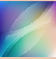 smooth color transparancy wave background vector image