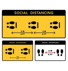 Social distancing banner keep 2 meter vector