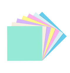 stack empty square paper notes vector image