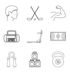 steroid icons set outline style vector image