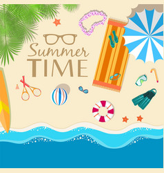summer vecetion time background vector image