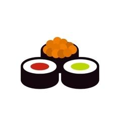 Sushi rolls icon flat style vector image
