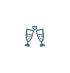 toast icon design lifestyle icon vector image