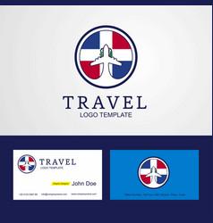 Travel dominican republic creative circle flag vector