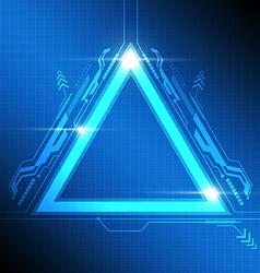 Triangle frame modern design vector