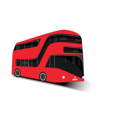 Urban modern two-tier passenger bus - isolated on vector
