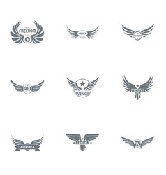 War legion logo set simple style vector
